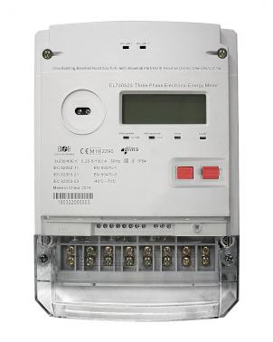 electronic three-phase meter