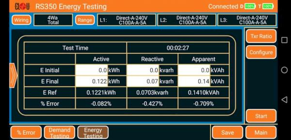 Energy Register Test