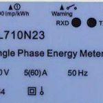 Placas de características de los medidores electrónicos